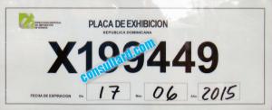 placa de exhibicion vencida 2021